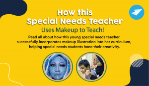 How this Special Needs Teacher Uses Makeup to Teach!